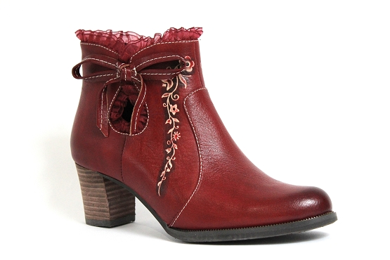 Laura vita boots bottine amelie rouge1233601_1