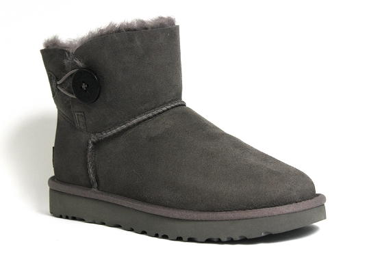 Ugg boots bottine mini bailey button gris1237002_1