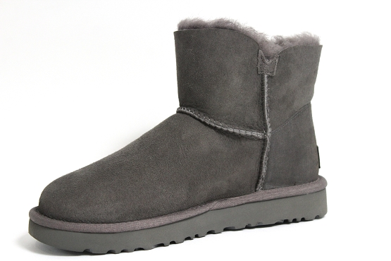 Ugg boots bottine mini bailey button gris1237002_2