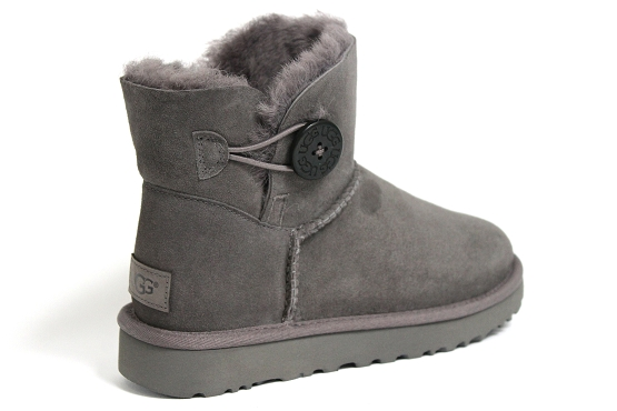 Ugg boots bottine mini bailey button gris1237002_3