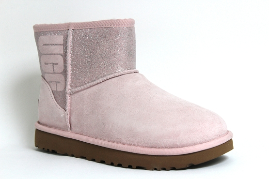 Ugg boots bottine classic mini sparkle rose1237302_1