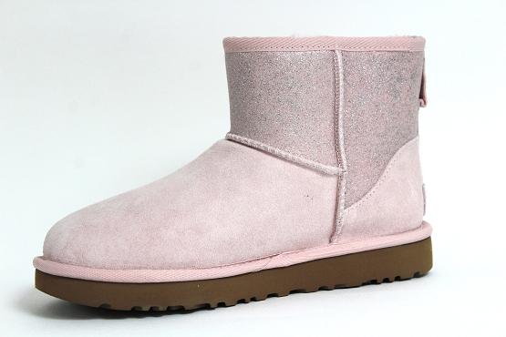 Ugg boots bottine classic mini sparkle rose1237302_2