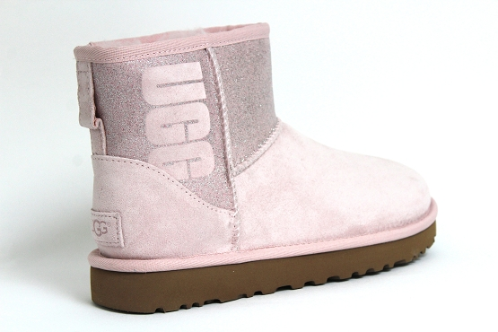 Ugg boots bottine classic mini sparkle rose1237302_3