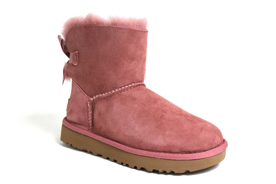 Ugg boots bottine mini bailey bow rose1253101_1