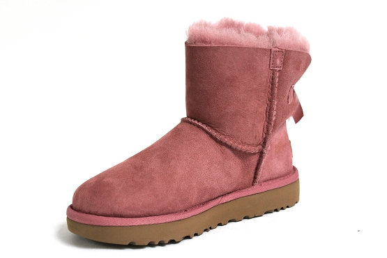 Ugg boots bottine mini bailey bow rose1253101_2