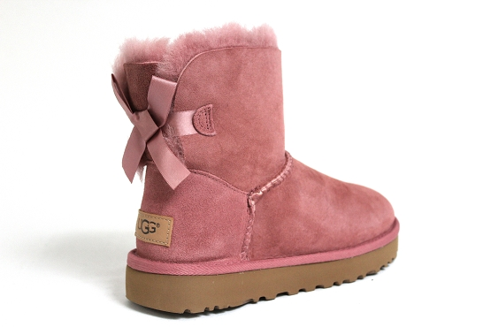 Ugg boots bottine mini bailey bow rose1253101_3