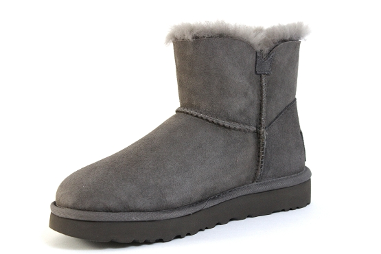 Ugg boots bottine mini button bling gris1305402_2