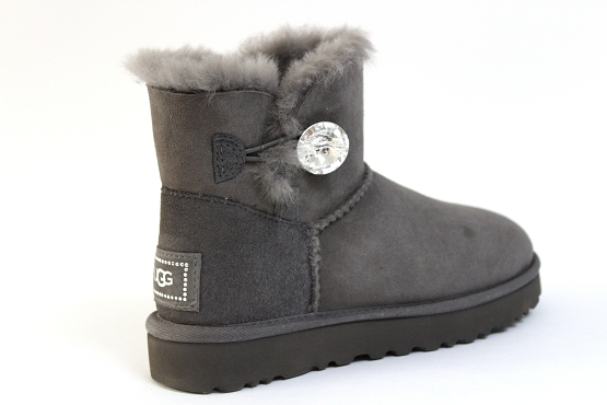 Ugg boots bottine mini button bling gris1305402_3