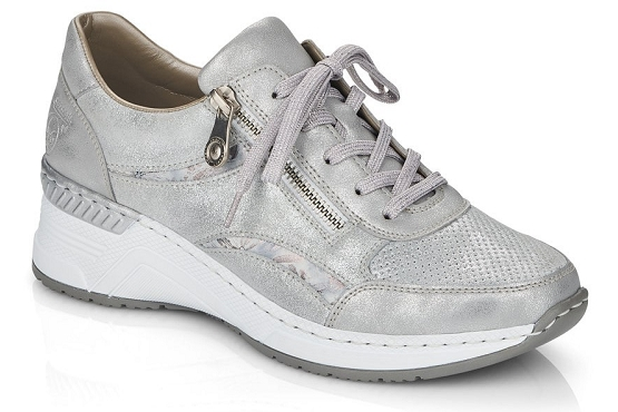 Rieker baskets sneakers n4306.40 cuir metallic1368501_1