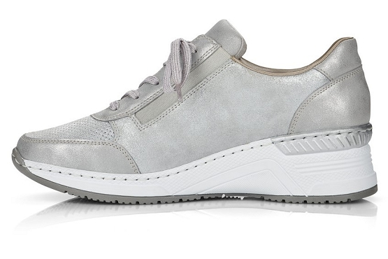 Rieker baskets sneakers n4306.40 cuir metallic1368501_2