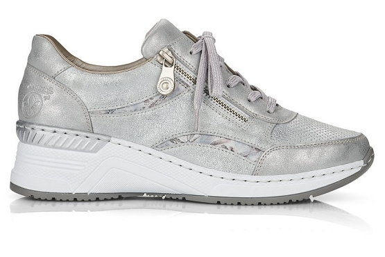 Rieker baskets sneakers n4306.40 cuir metallic1368501_3