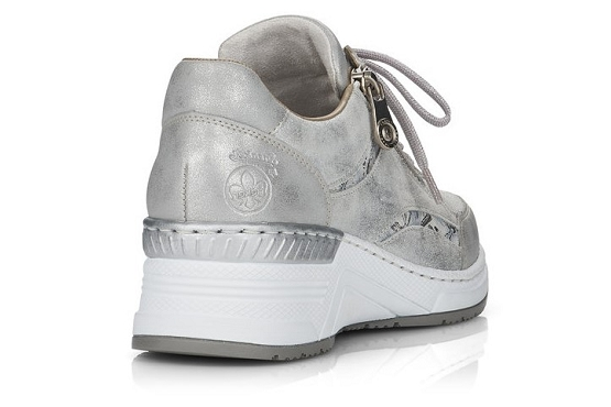 Rieker baskets sneakers n4306.40 cuir metallic1368501_4
