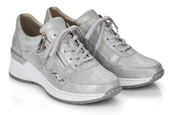 Rieker baskets sneakers n4306.40 cuir metallic1368501_5