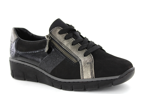 Rieker baskets sneakers 53713.00 noir5448901_1