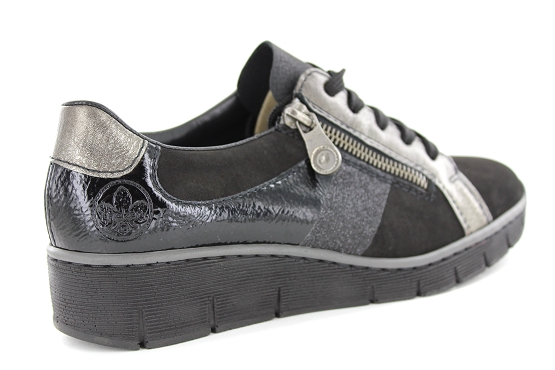 Rieker baskets sneakers 53713.00 noir5448901_3