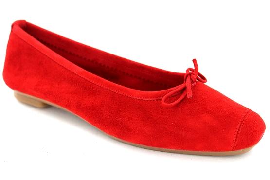 Reqins ballerines rt.00050.8d harmony eclat cc cuir rouge5495201_1