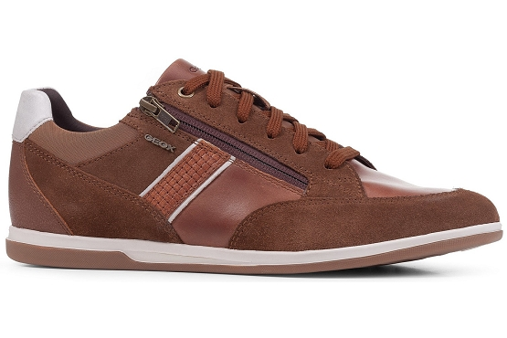 Geox baskets sneakers u154gd 022cl cuir camel5496101_4