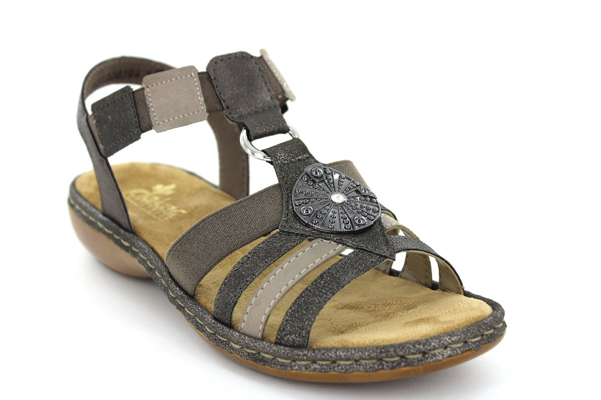 Sandales 65959 Conti Pieds Bronze 45 FemmeSergio Rieker Nu qpSGUMzV
