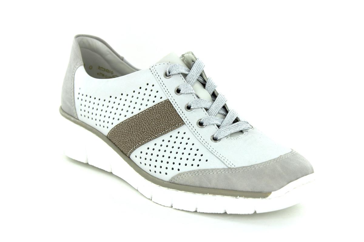 Sneakers Rieker FemmeSergio 53717 Conti 80 Blanc Baskets v8wn0Nm